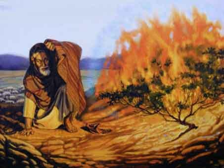 Les trois options pour faire naître le Christ dans notre coeur d'enfant de Dieu/ Moise-et-le-buisson-ardent